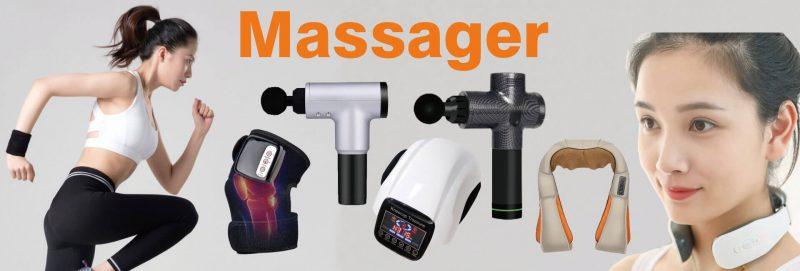massage product, massage gun, shoulder massage, knee massage
